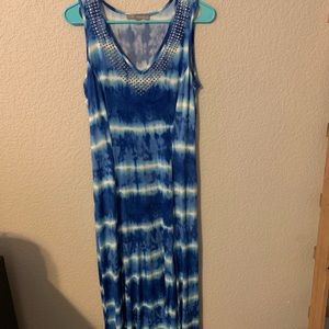 Ny collection tie dye maxi dress